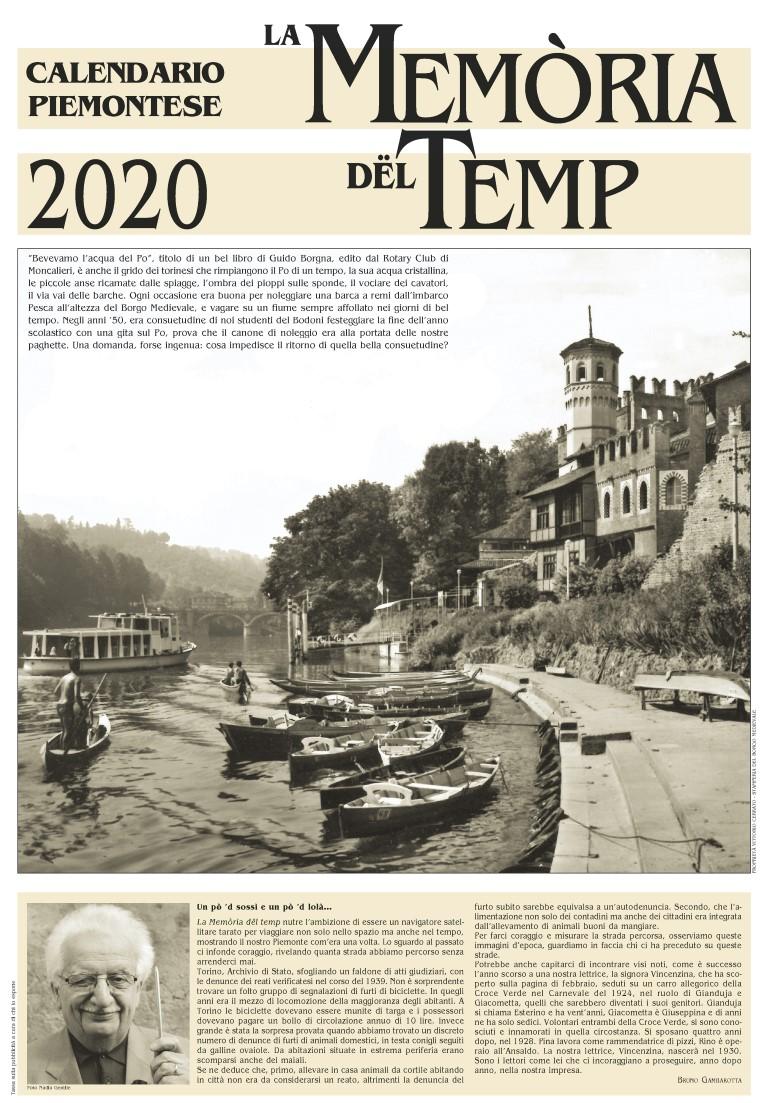 "Presentato a Torino il Calendario Piemontese 2020 ""La Memòria dël Temp"""