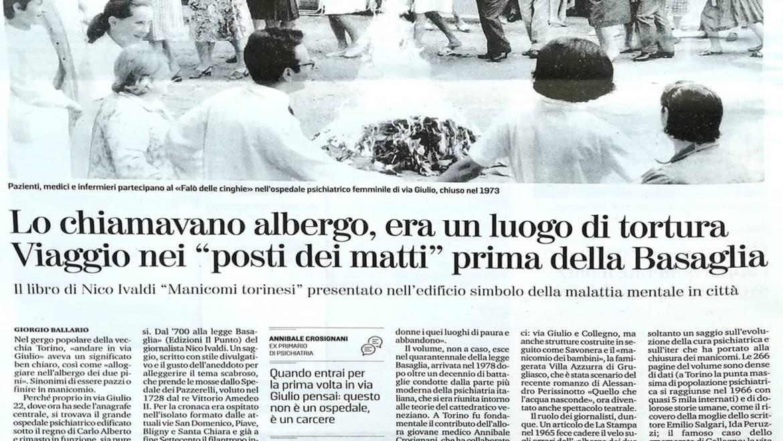 """""""MANICOMI TORINESI"""", presentazione del libro di Nico Ivaldi"""