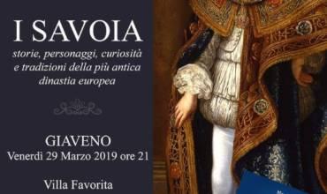 VENERDÌ 29 MARZO GIAVENO – SAVOIA – Storie, personaggi, curiosità di Mauro Minola